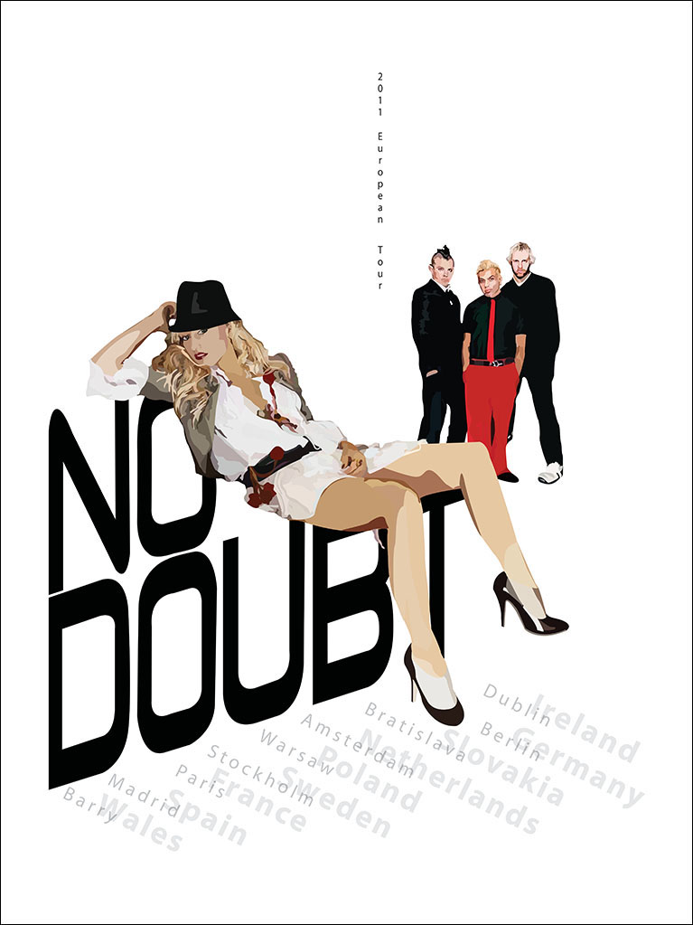 No Doubt European Tour Poster | Student ADDY - Gold Award - 2010