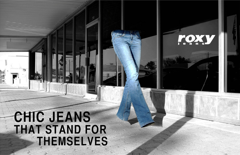 Magazine Editorial Spread Design: Roxy Jeans | Student ADDY - Sliver Award 2010