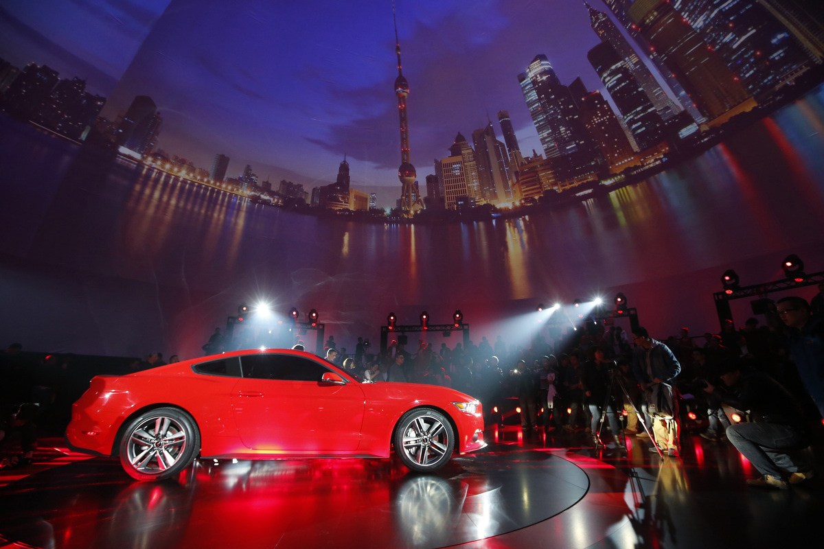 Ford Motor Co. unveils its 2015 Ford Mustang in Shanghai