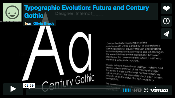 Art-341 Project-4 : Typographic Evolution - Classifications in Motion Selected Student Work | Fall 2014