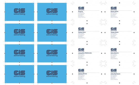 ARTS-3333: Design & Production   Project-1A: Business Card Design & Imposition / Fall 2015
