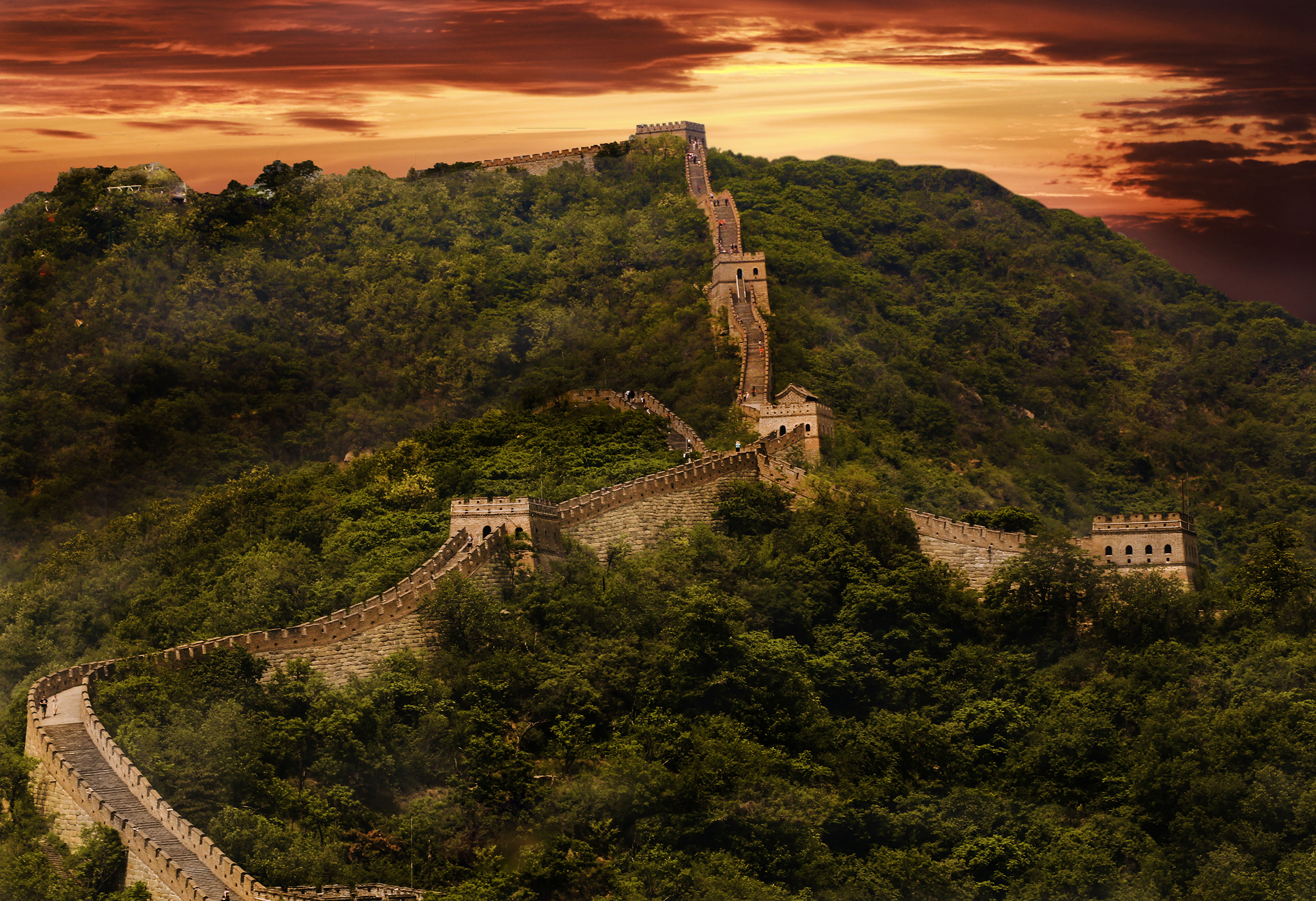 Great Wall Sunset_19X13