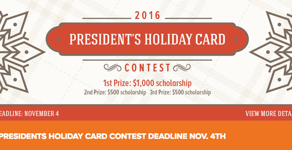 ARTS-3333 Project-3: 2016 President's Holiday Card Contest | Fall 2016 / School of Art