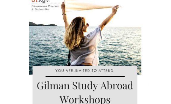 UTRGV's Gilman Study Abroad Workshops - Feb. 7 & Feb. 22, 2018
