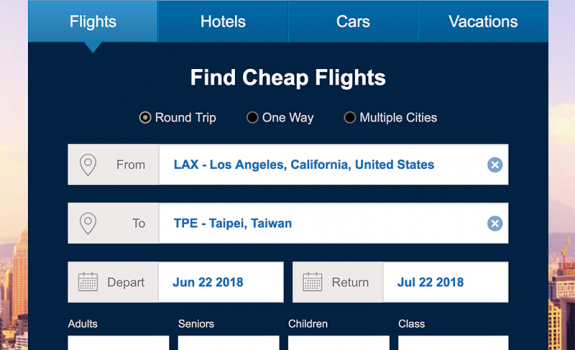 Round Trip Los Angeles (LAX) - Taipei (TPE) $881 Only | $881 - $300 Reimbursement, you pay $581 USD for the Taiwan trip